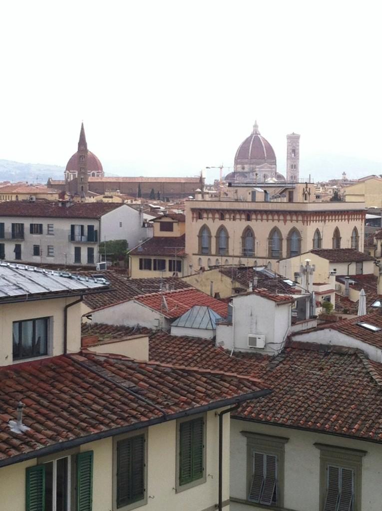 Vista do meu quarto em Florença