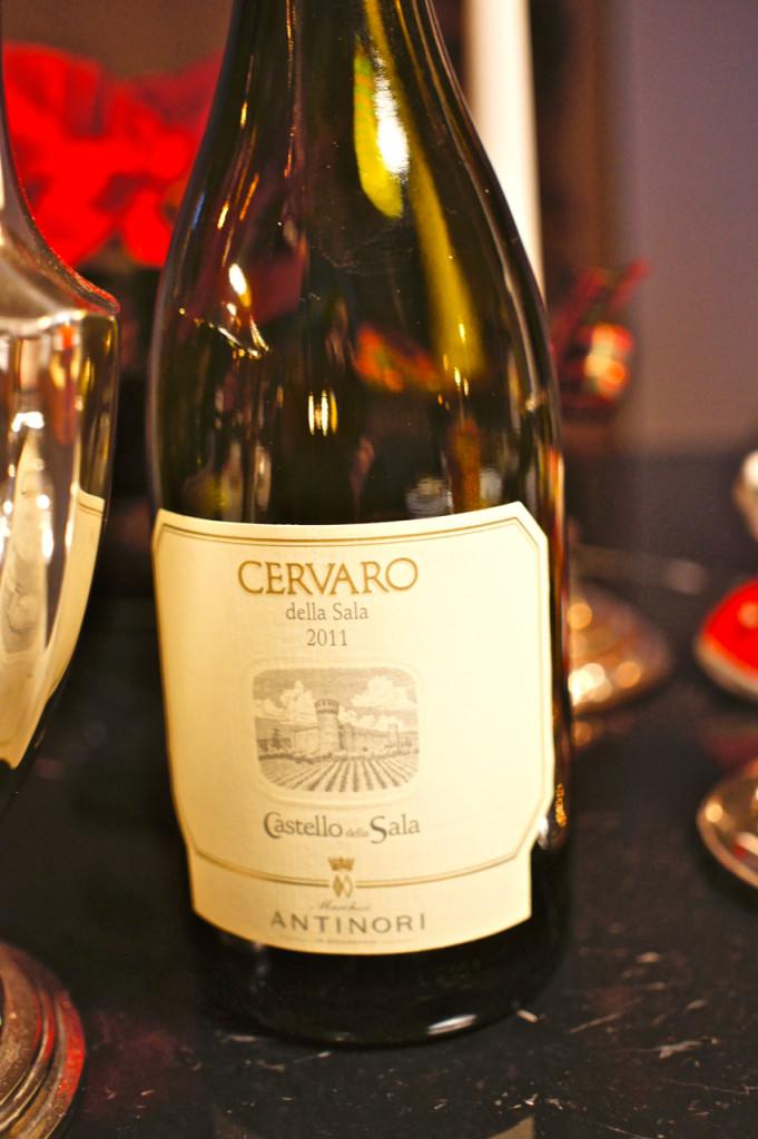 E escolhi o vinho!  O Cervaro é dos Antinori