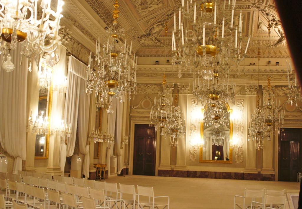 A Sala Bianca na Galleria Palatina.