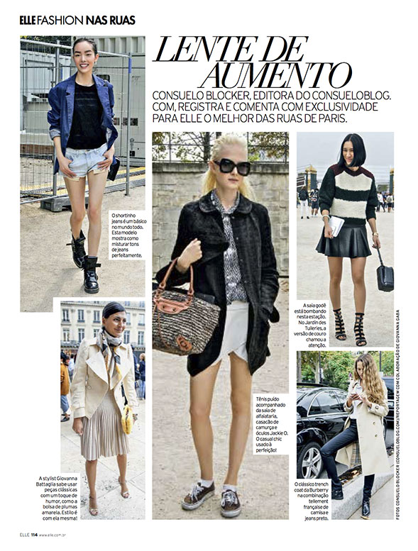 Looks Paris por mim na Elle Brasil