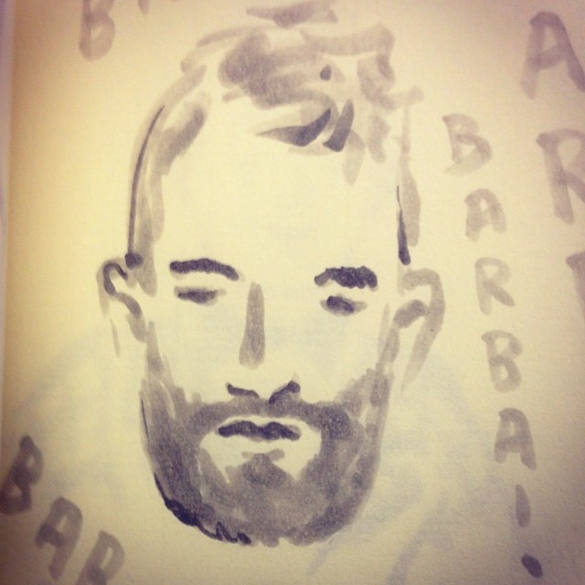 Desenho de Andrea Ferolla no Instagram da Chez Dédé