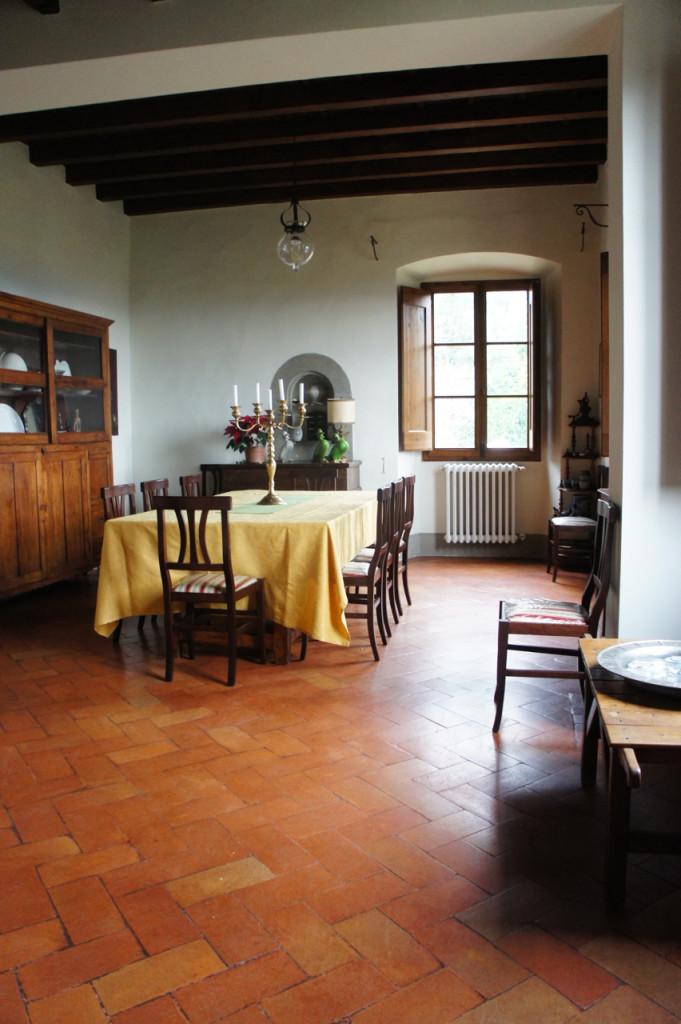 A sala de jantar antes...