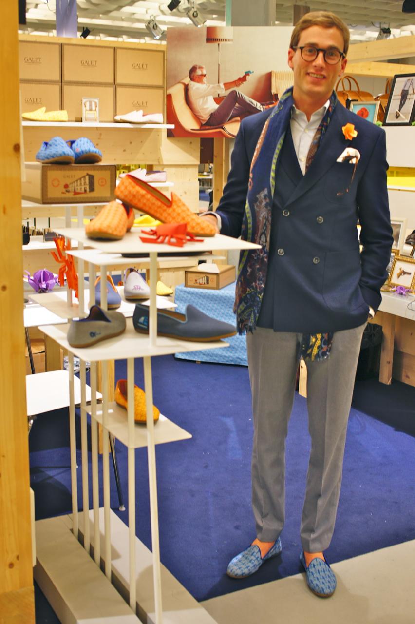 O vendedor na Pitti, este Holandês, era um charme e elegantérrimo!!