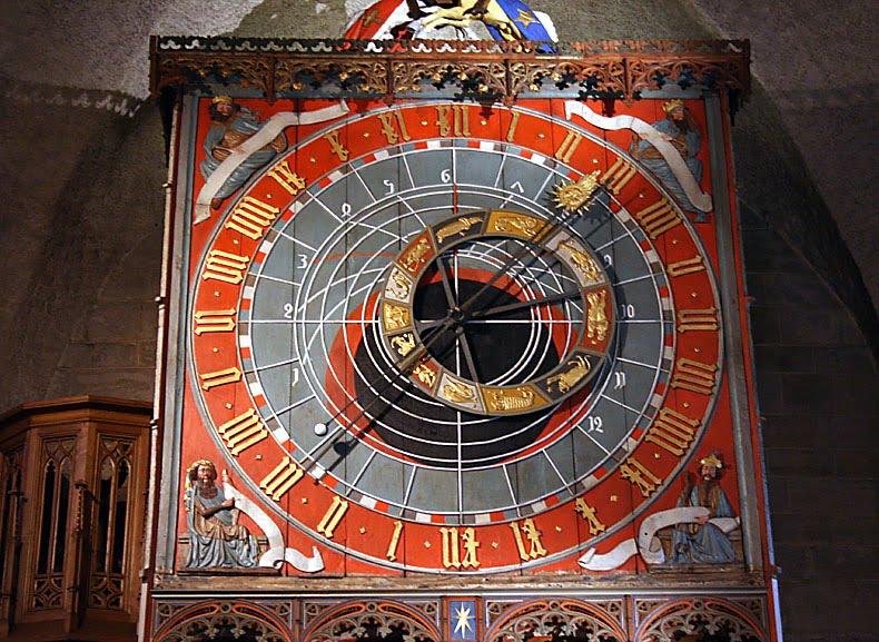 "Detalhe do ""Horologium mirabile lundense"" dentro da Catedral de Lund, na Suécia."