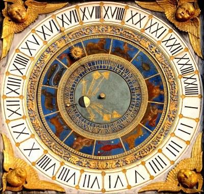 Detalhe do relógio zodiacal de Bréscia.