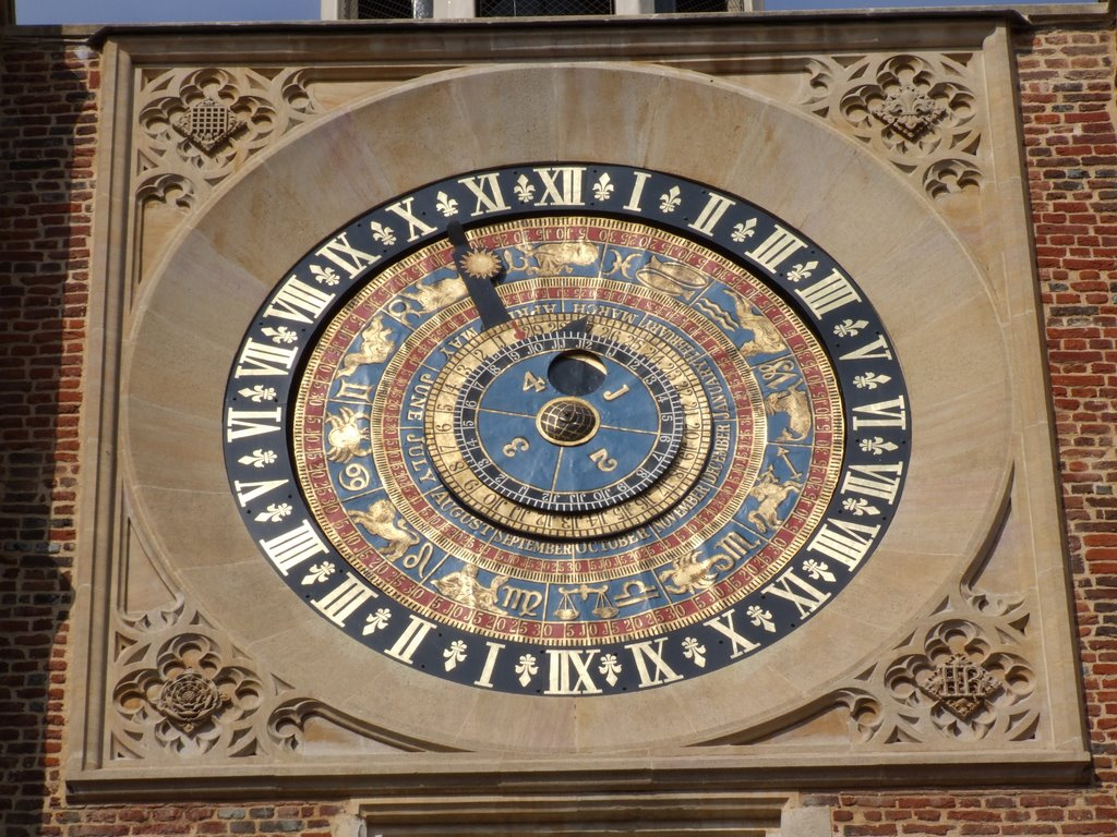 Eis os detalhes do londrino: os signos junto aos seus símbolos astrológicos.