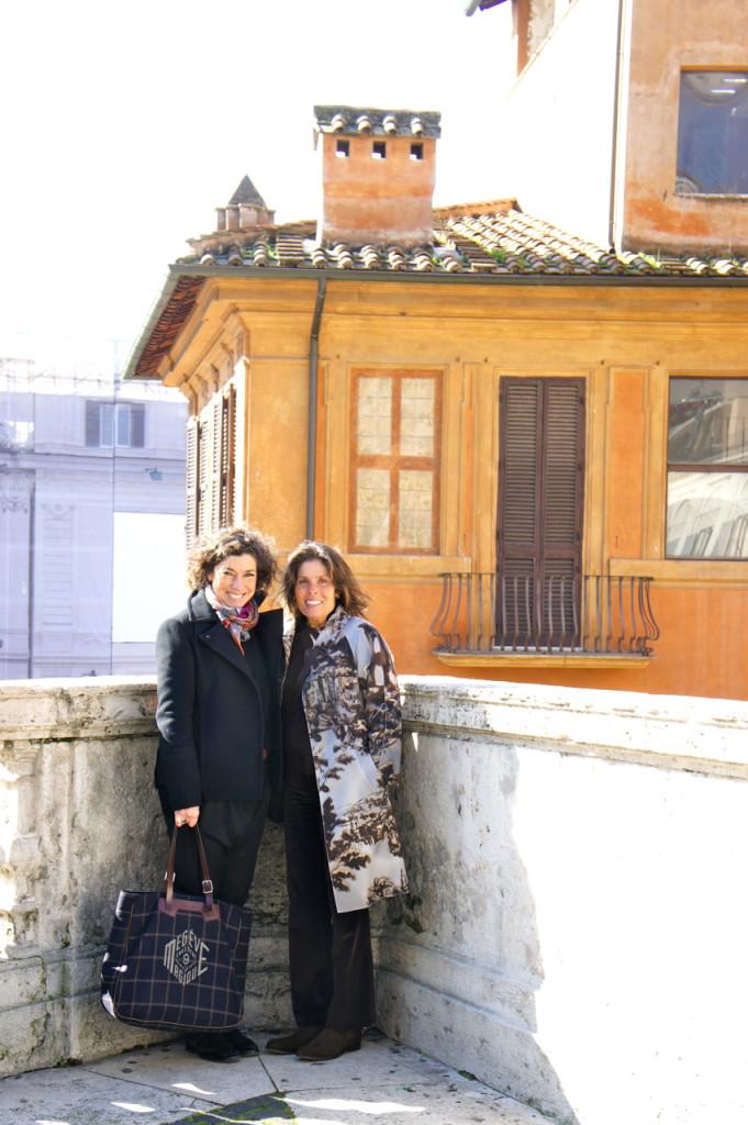 Passeando por Roma com a grande amiga Mema!