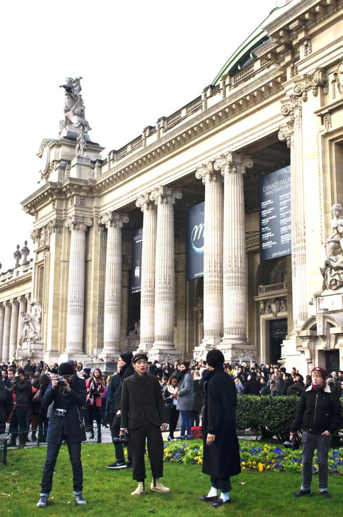 Grand Palais na manhã do desfile da Chanel.