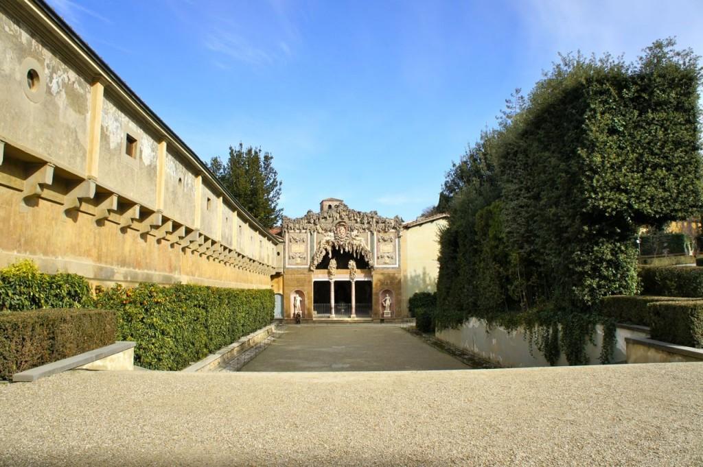 Um santinho do enorme Jardim de Boboli