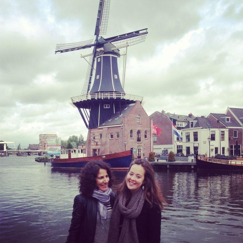 Meu primeiro passeio de bike em terras holandesas, com a Stephanie