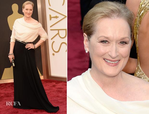 Meryl Streep de Lanvin ficou muito bem!  Já que ela não acerta sempre!