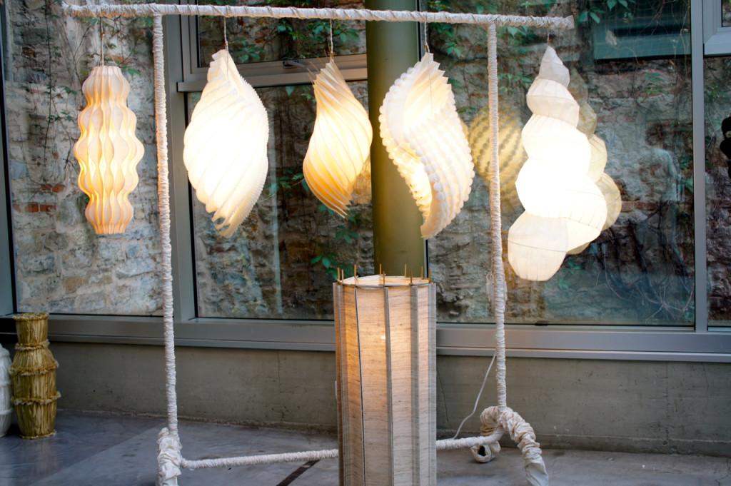 Luminárias em papel..