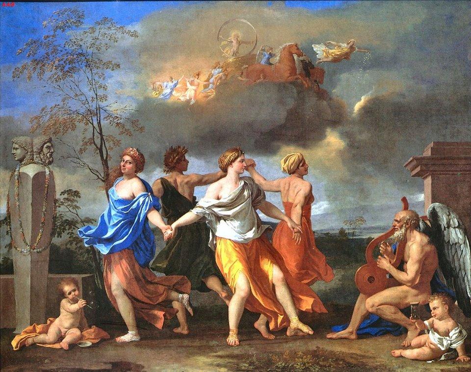 """""""Uma dança para a música do tempo"""" (1638), de Nicolas Poussin, Wallace Colection, Londres."""