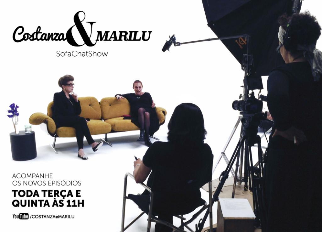 Costanza e Marilu com Monica Waldvogel entrevistando!