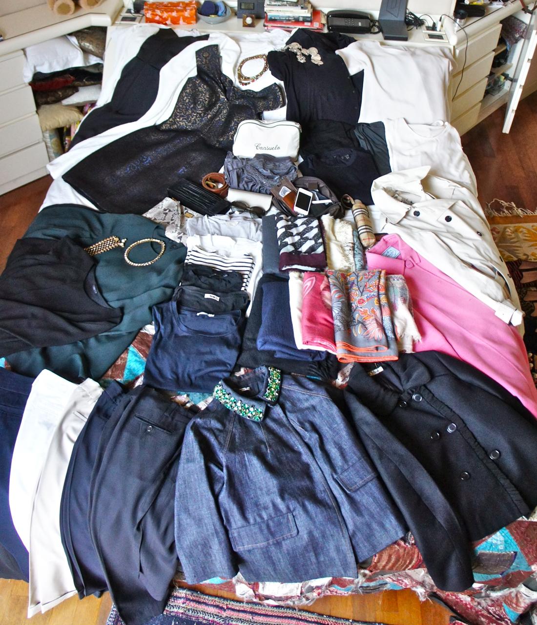 Minha mala para duas semanas uma em Londres e outra em São Paulo!!