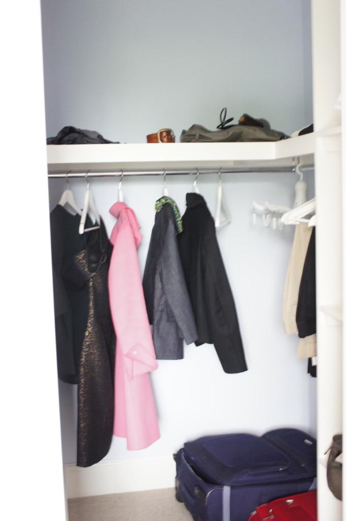 O walk-in closet é maravilhoso!!