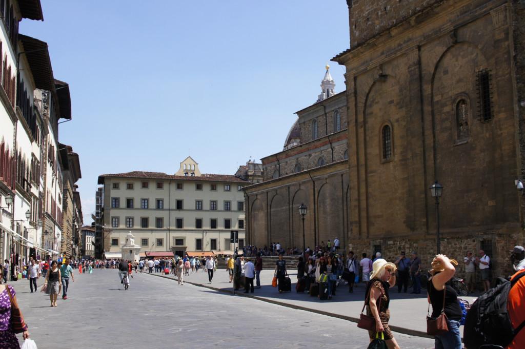 A praça da Basilica di San Lorenzo
