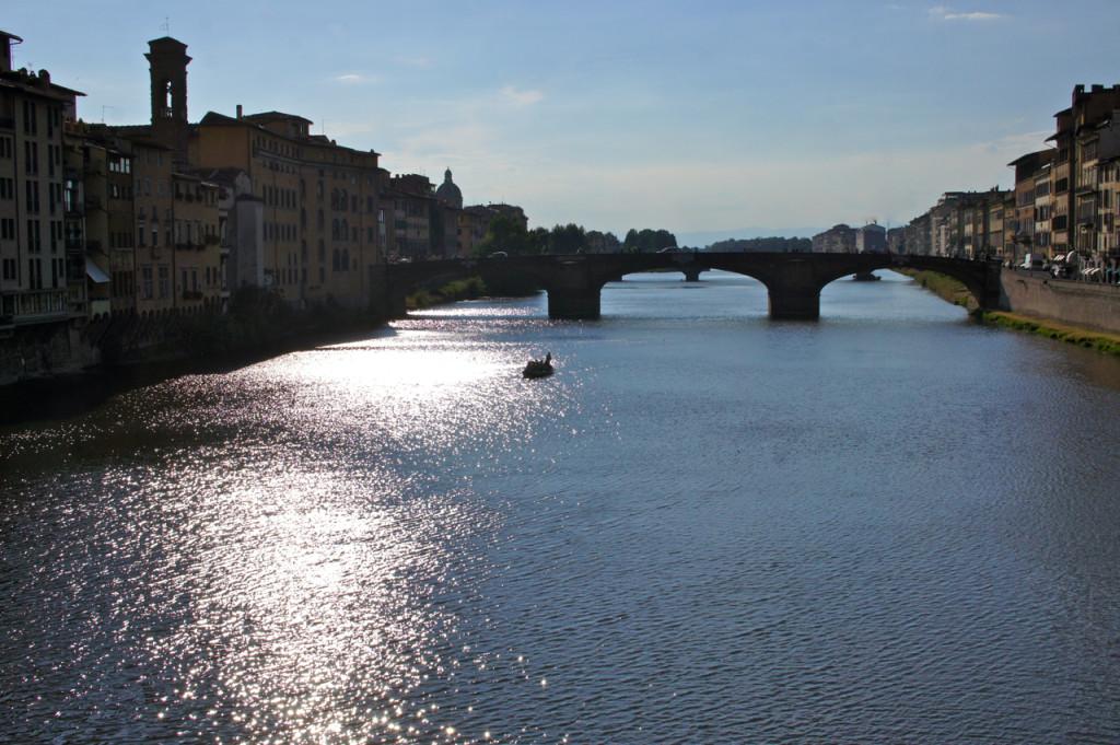 A tarde de ontem em Florença.