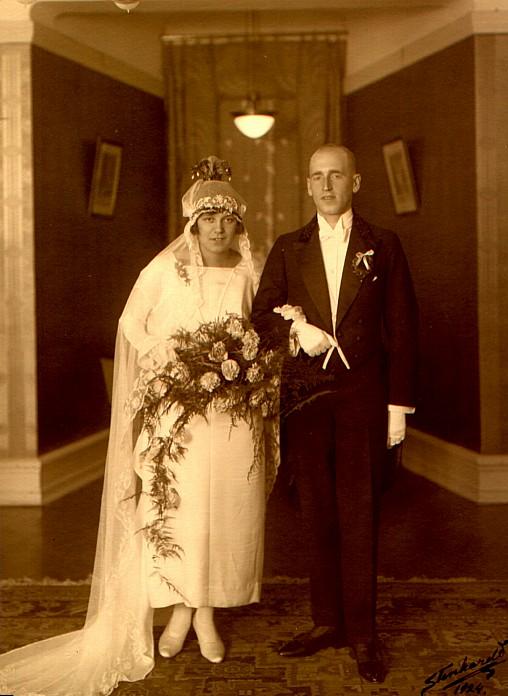 Alma e Iwar Beckman, em 1924 na Suécia.