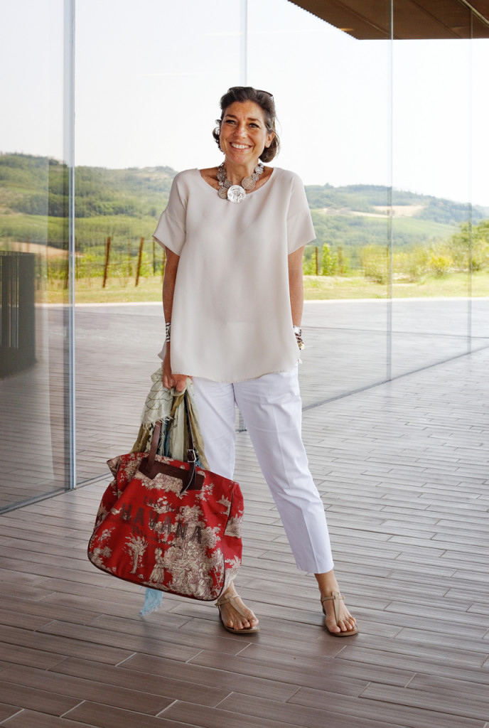 Look do dia com a bolsa Chez Dédé St. Barth!!