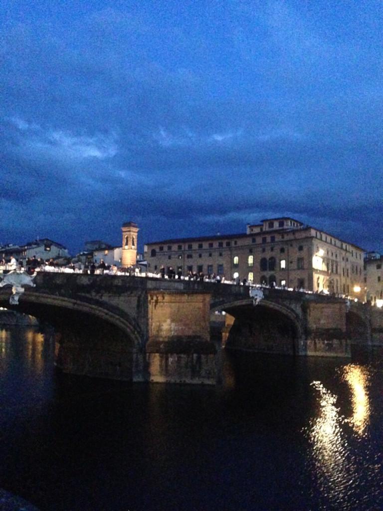 O jantar para os VIP's foi na Ponte Santa Trinitá