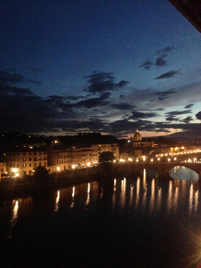 Florença no pôr do sol ontem.