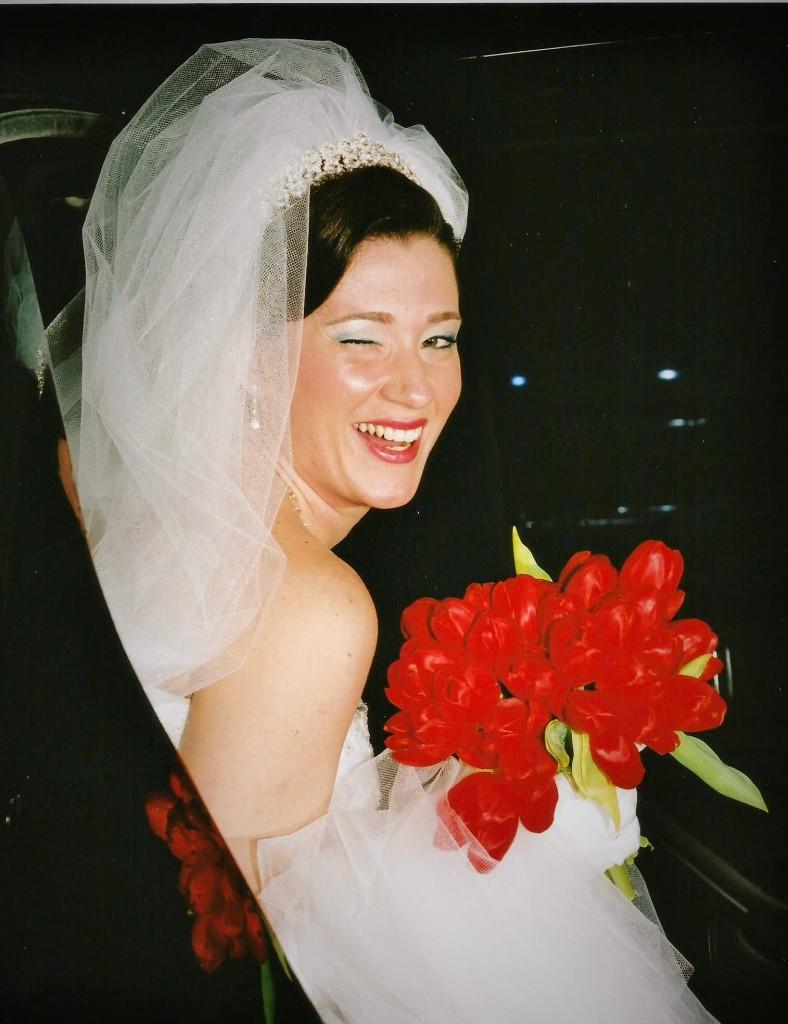 Noiva muito feliz!!!