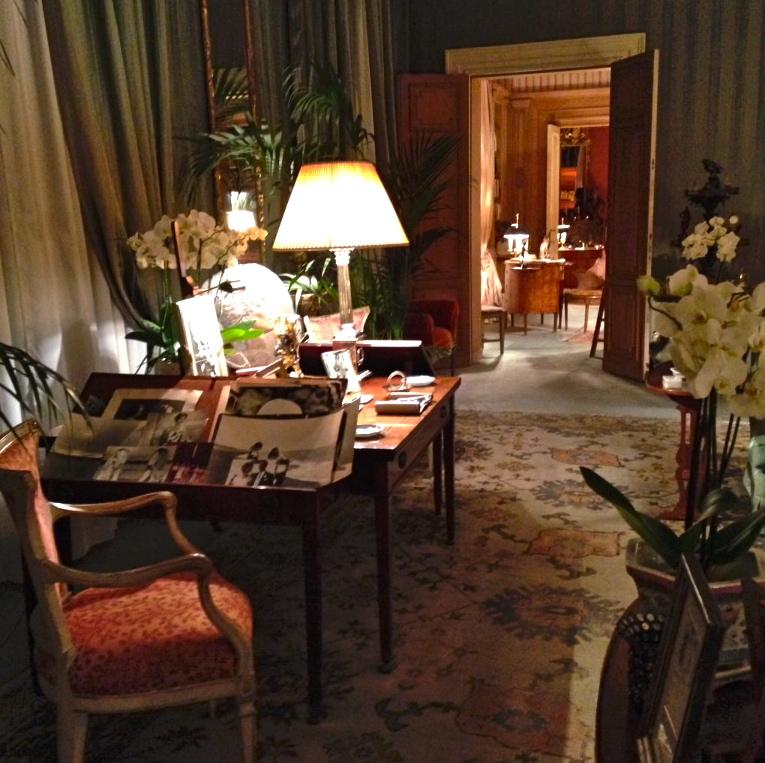 A casa da minha tia com as cortinas de seda do Antico Setificio Fiorentino