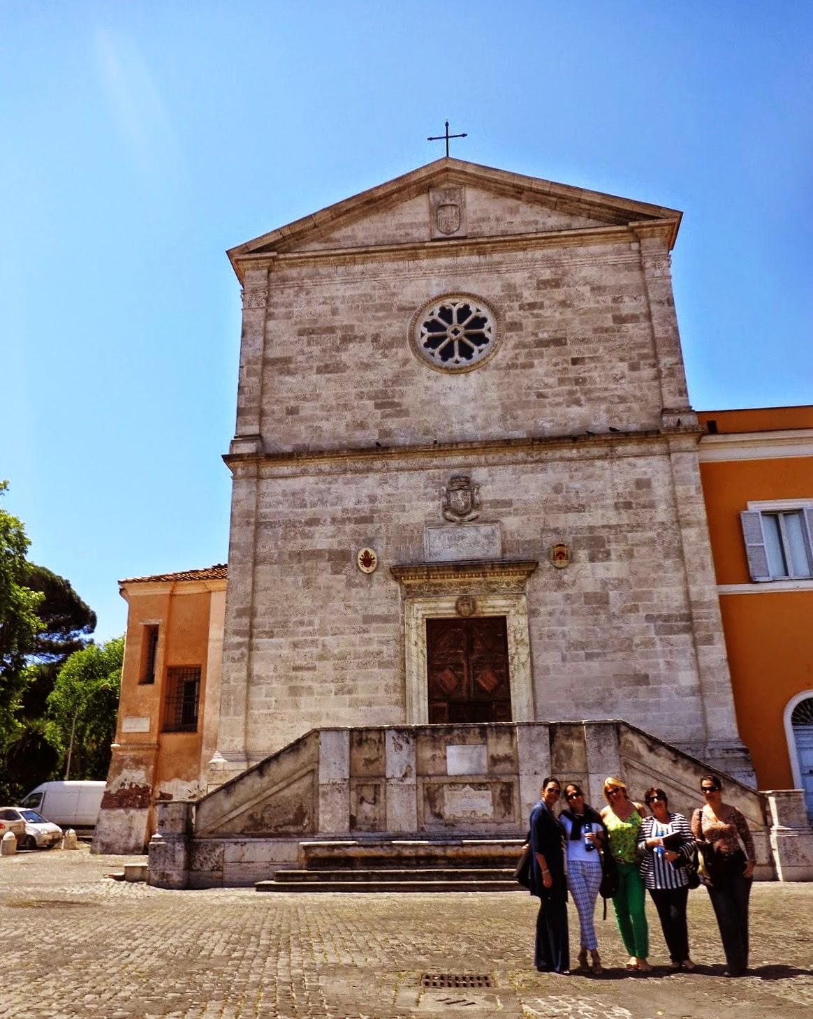 Igreja de San Pietro in Montorio, onde se encontra os restos de Beatrice Cenci.