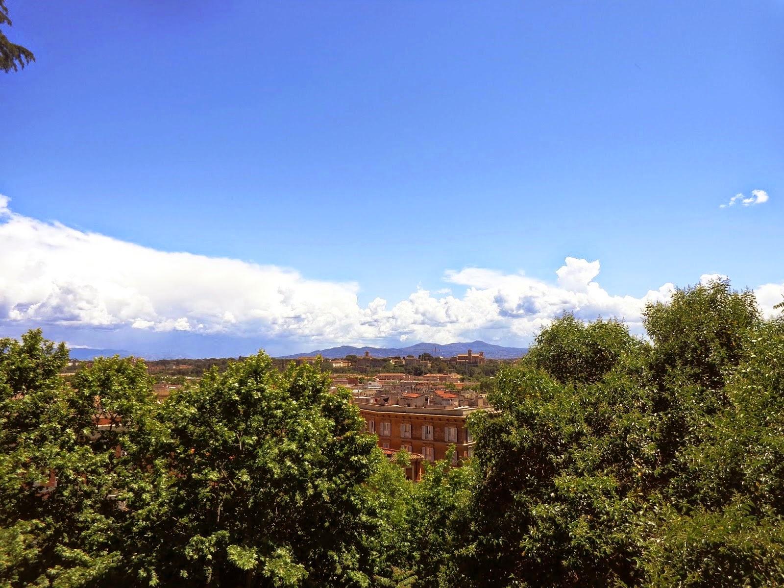 Roma vista do alto do Gianicolo.