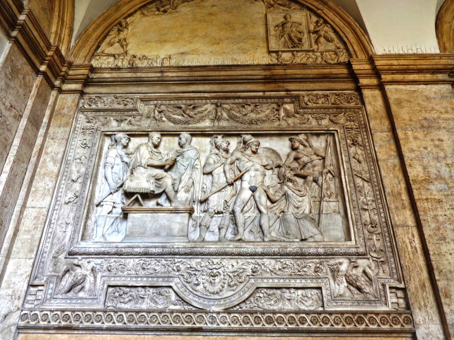 A morte de Príamo, rei de Tróia, narrada na Ilíada, de Homero.