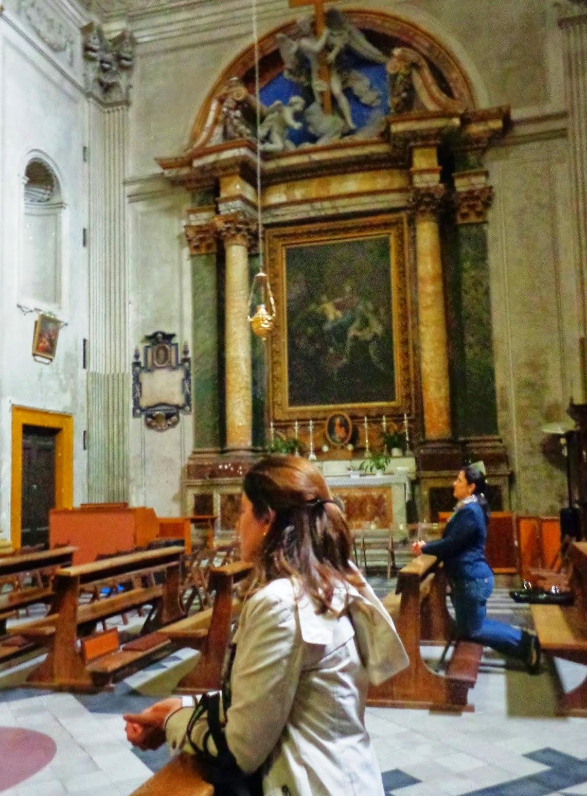 Interior da Igreja de Santa Maria del Pianto.