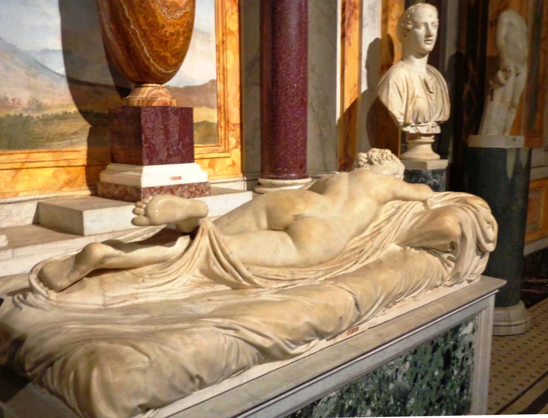 Hermafrodito exposto na Galeria Borghese
