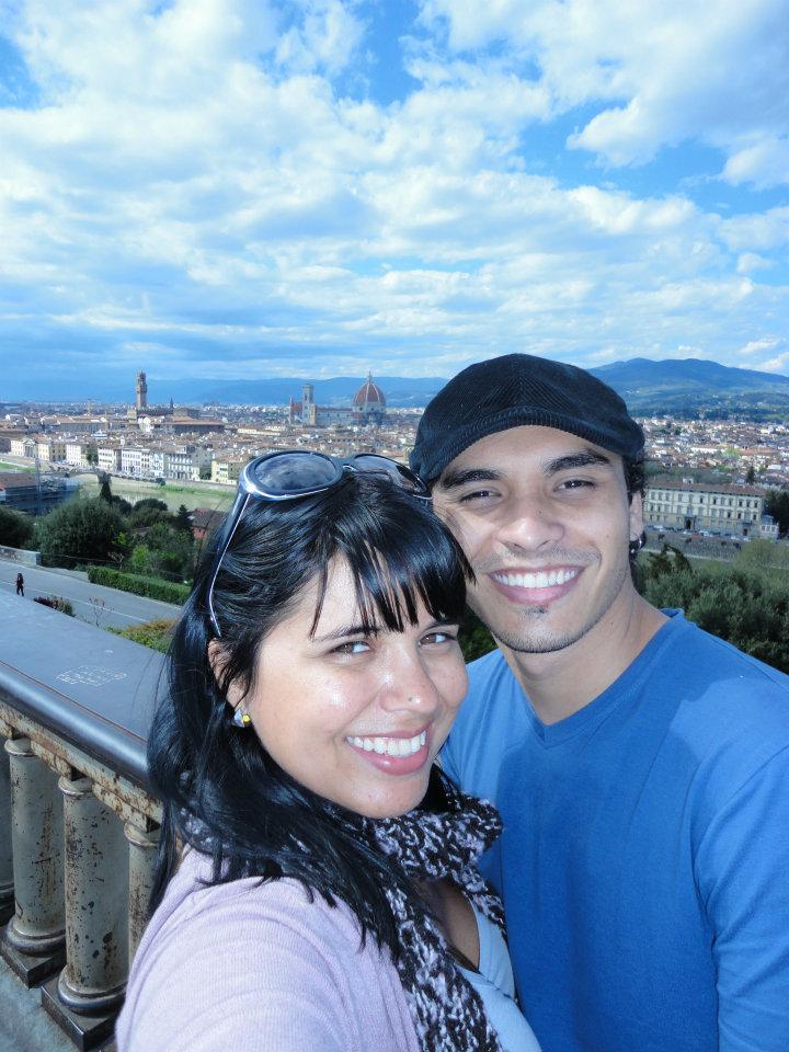 Florença, no Piazzale Michelangelo...em Abril de 2012