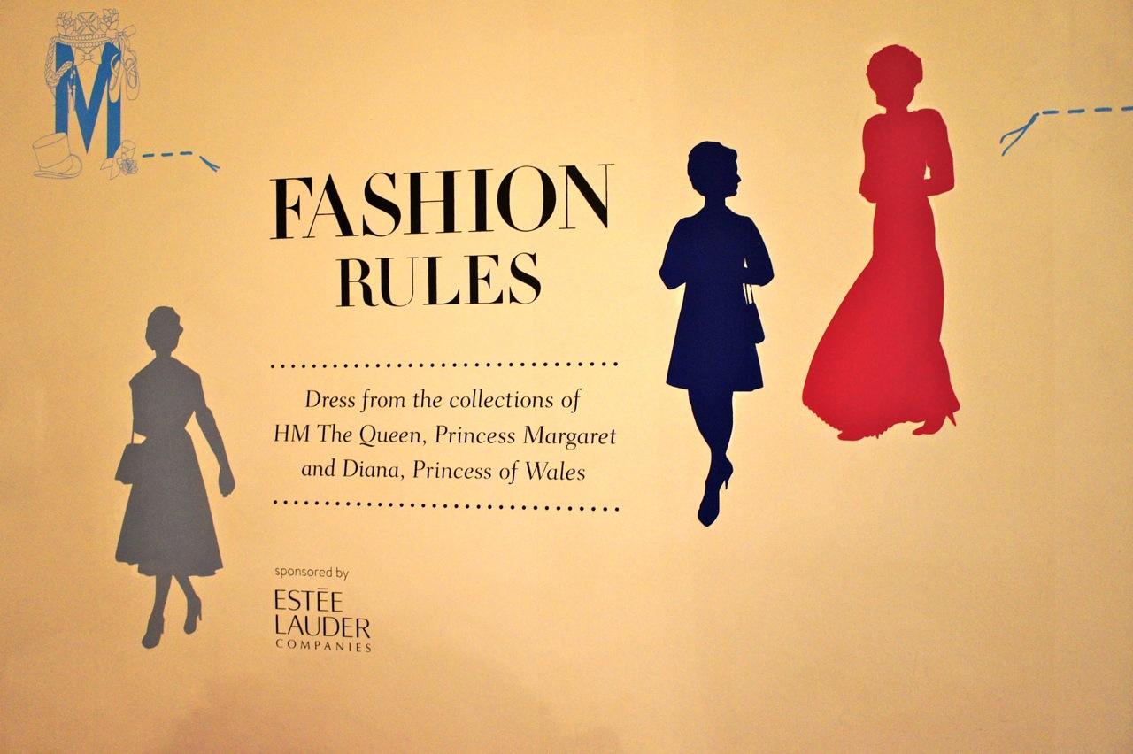 Vestidos das coleções da Rainha, Princesa Margaret e a Princesa de Gales