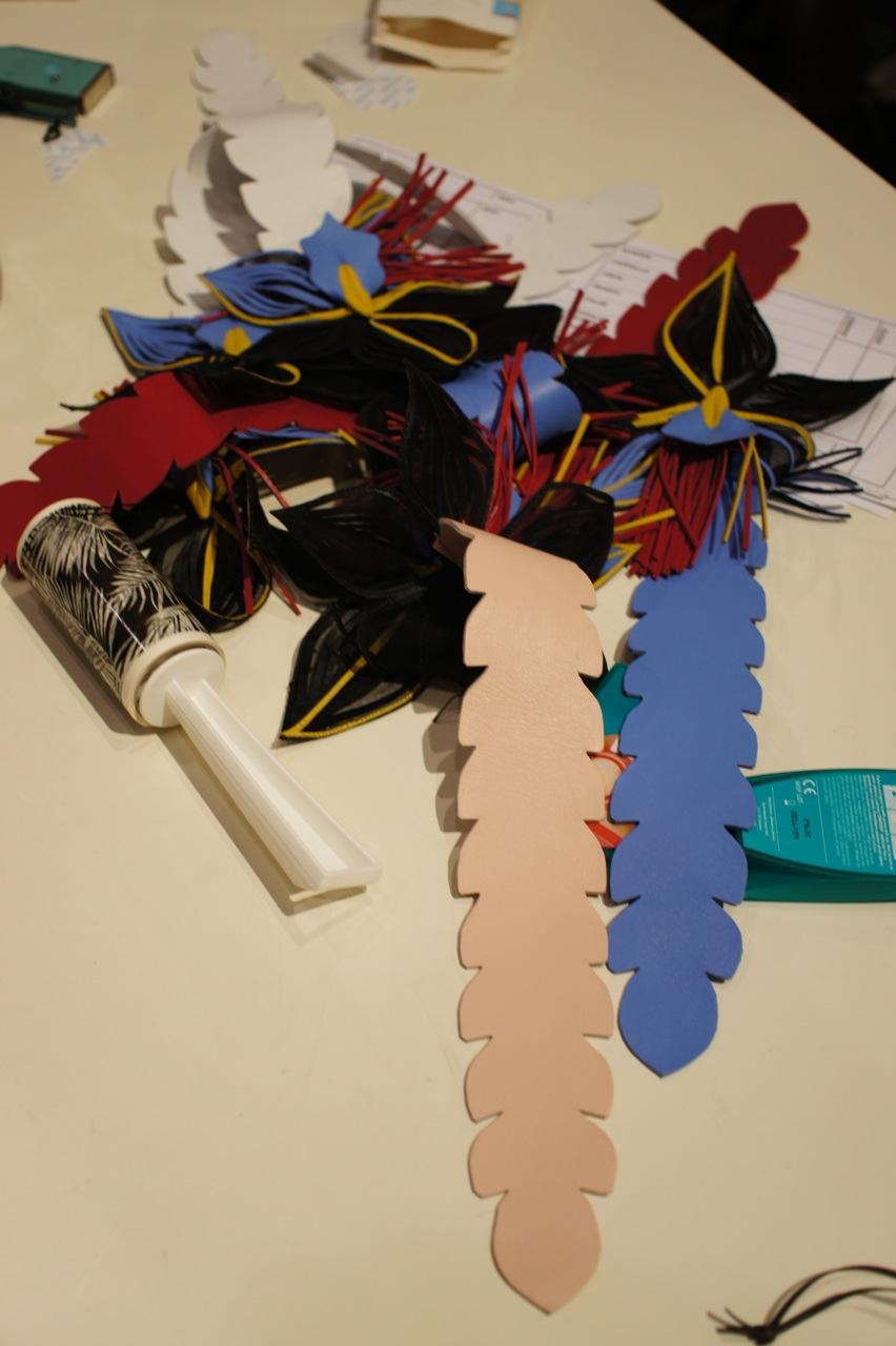 Os acessórios de cabelo