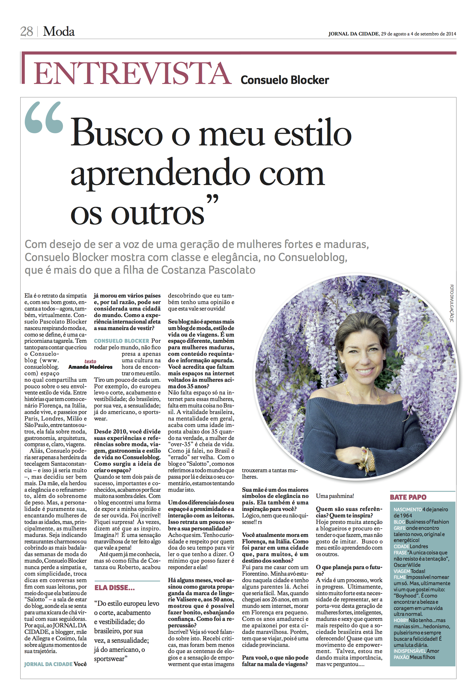 Entrevista ao Jornal da Cidade de Belo Horizonte