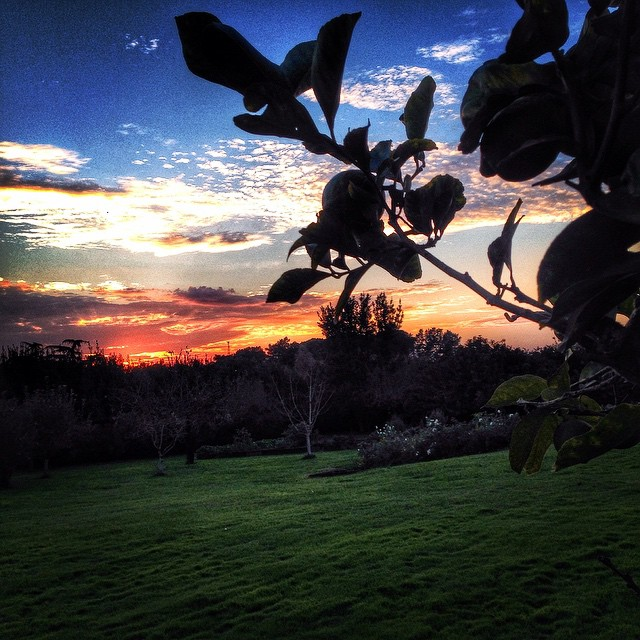 E o pôr do sol foi lindo!