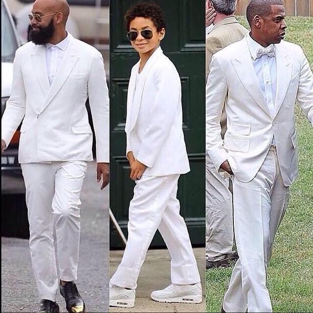 Os mega-men!! O noivo Alan, o filho de Solange de outro relacionamento, Daniel e o Mr. Beyoncé, Jay-Z.