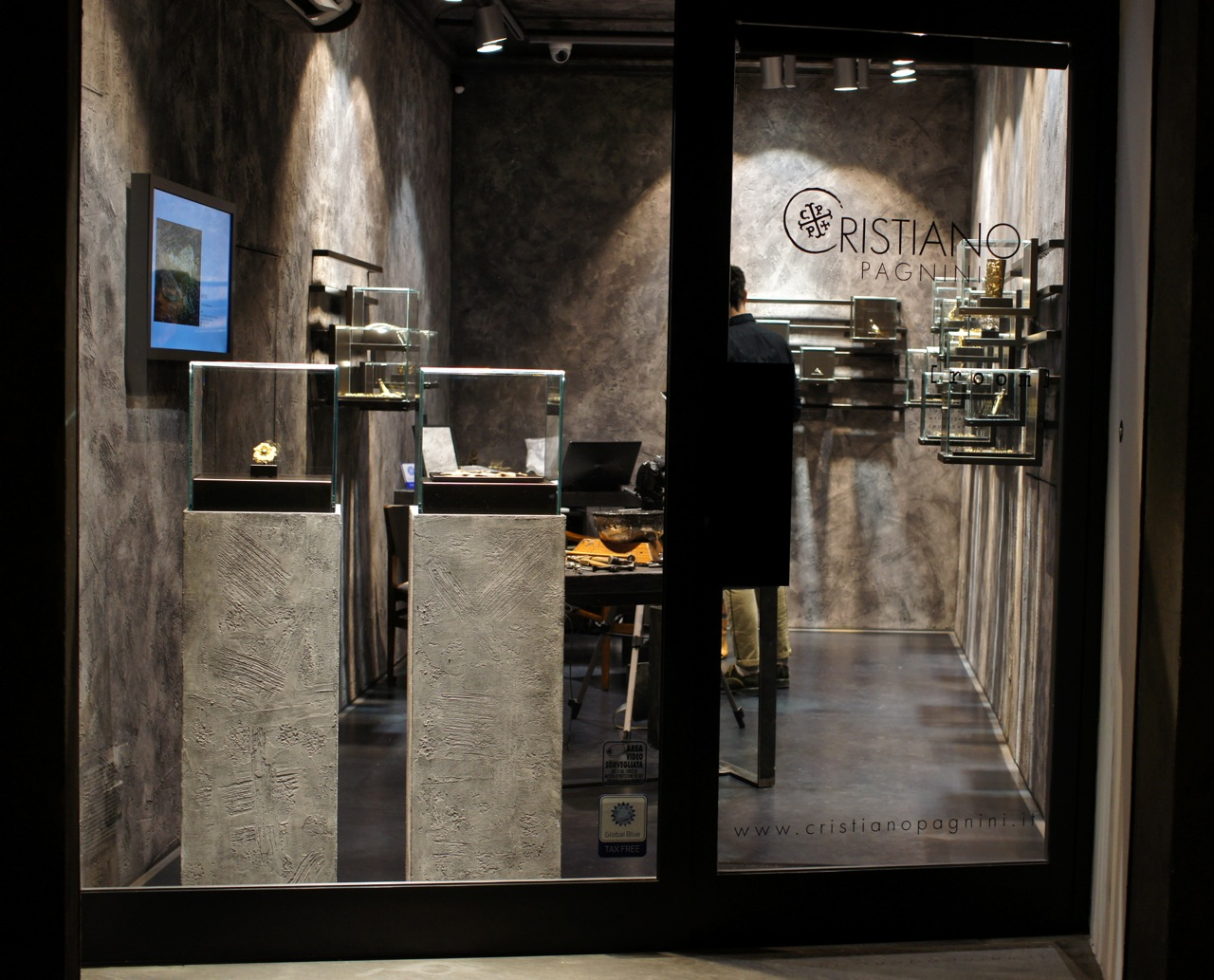 A linda loja na Via Maggio em Florença.