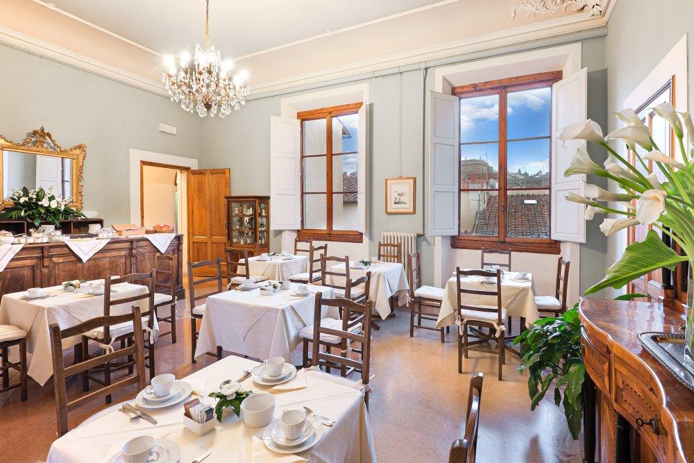 A sala do café da manhã