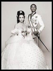 Pharrell-Williams-Cara-Delevingne-Reincarnation-by-Karl-Lagerfeld-picture-Karl-Lagerfeld