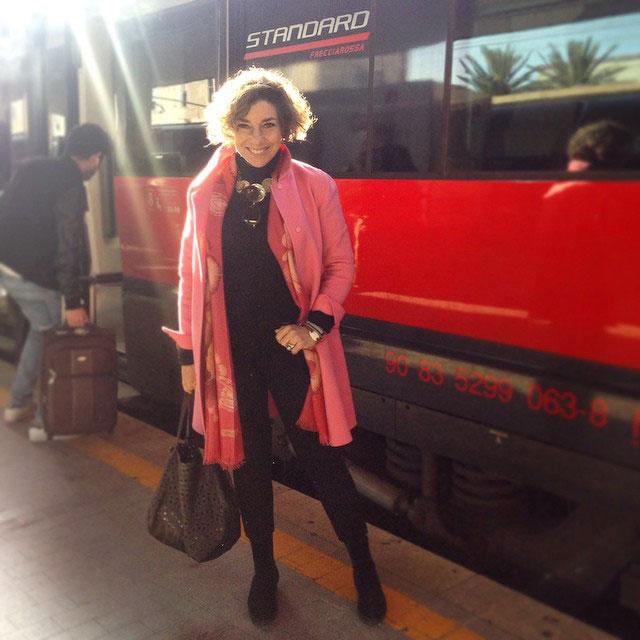 Pegando o trem para Bolonha...
