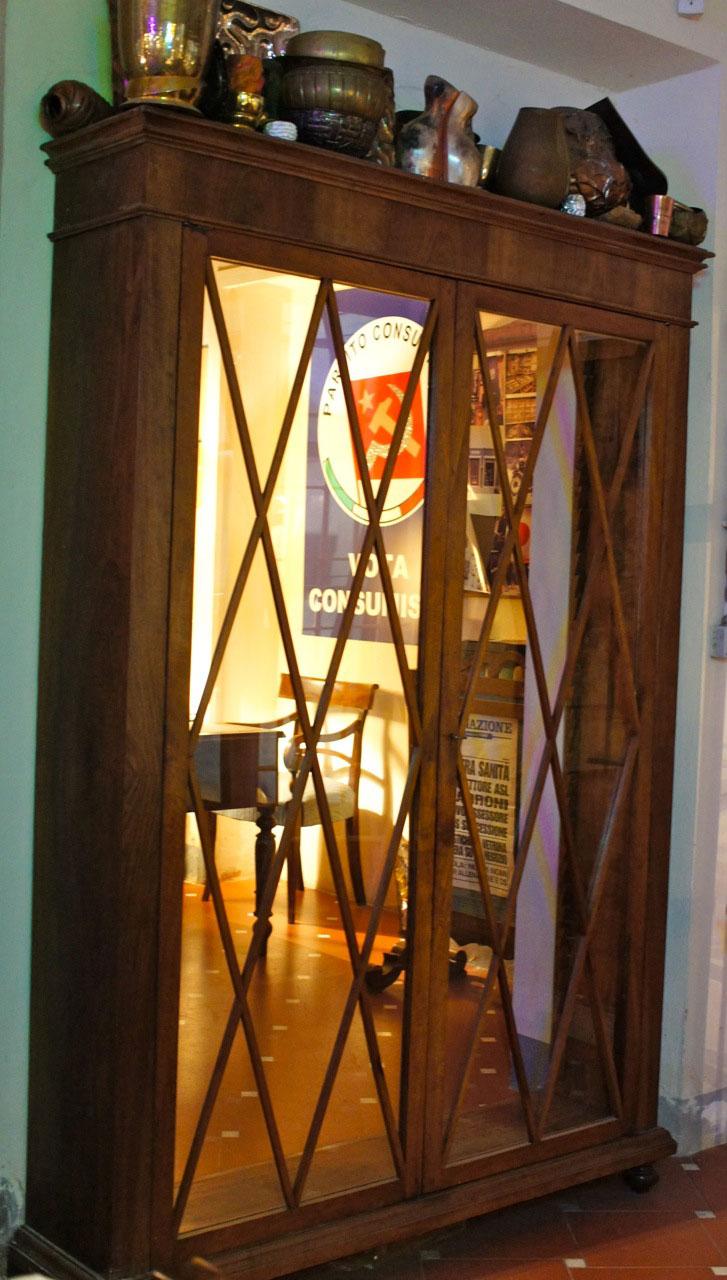 A entrada à sala do Pampa era um armário...