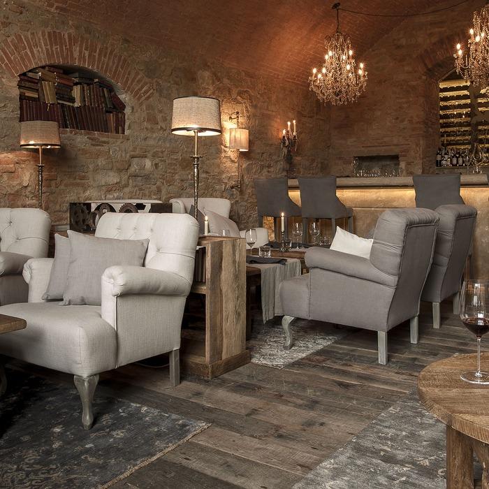 O lounge do Borgo Santo Pietro