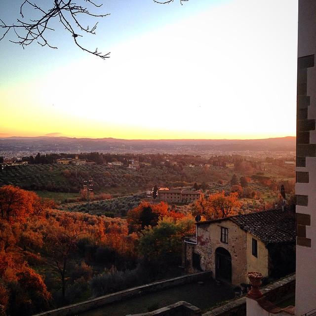 E os maravilhosos pôr de sol do inverno