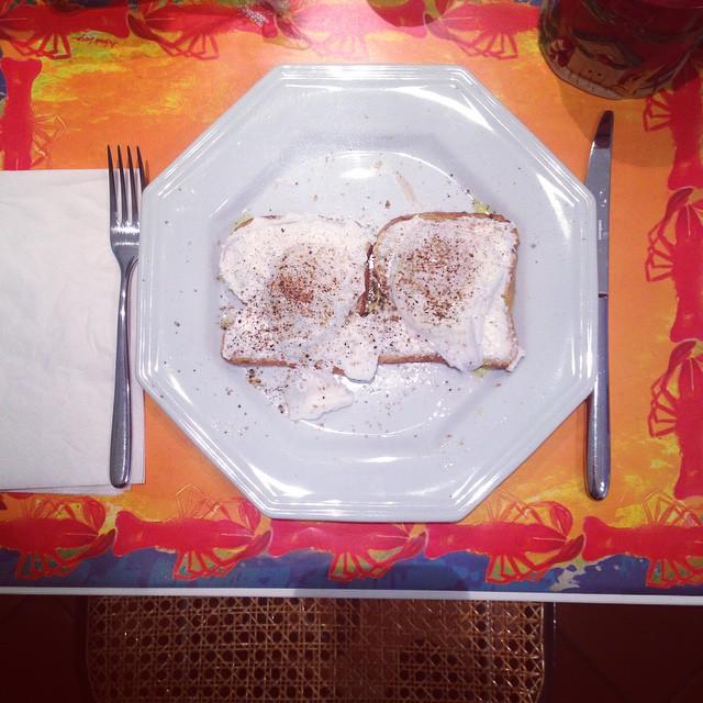 Café da manhã com ovos pochê!
