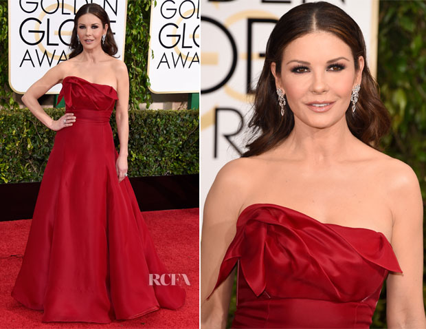 Catherine-Zeta-Jones-In-Angel-Sanchez-2015-Golden-Globe-Awards