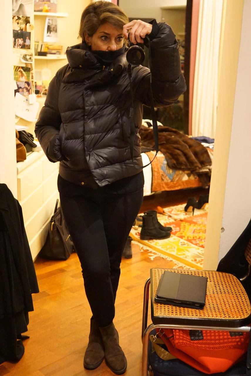 Um casaco de plumas para os dias menos frios...