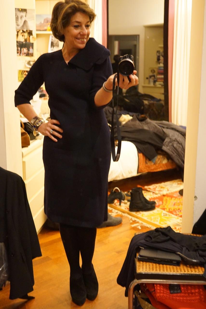 E um vestido de tricot bem grosso!